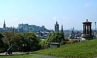 Calton Hill looking towards Edinburgh Castle